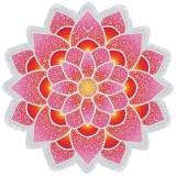Polygon Gorgeous Tassel Lotus Summer Bath Towel Sand Beach Towel Shawl Scarf Yoga Mat (Pink)
