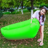 Inflatable Lounger 210D Fabric Compression Air Bag Sofa with Beach Sunshade for Beach / Travelling / Hospitality / Fishingx50cm (Green)