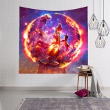 3D Digital Painting Sky Swirling Tapestry Wall Hanging Carpet Beach Towel Multi-function Tapestry Home Psychedelic