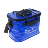 Live Fish Bucket Folding Water Bucket Fish Bucket Bait Box Fishing Water Tank With Hand Strap (Random Color)