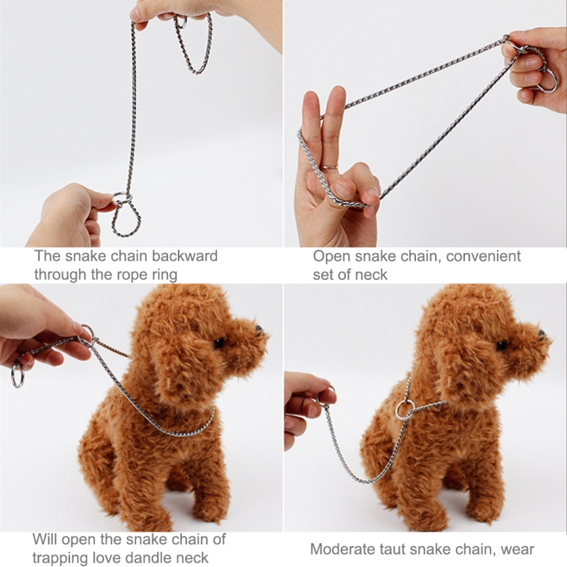 50cmx3mm Pet P Chain Pet Collars Pet Neck Strap Dog Neckband Snake Chain Dog Chain Dog Collar