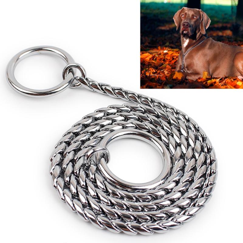 60cm Pet P Chain Pet Collars Pet Neck Strap Dog Neckband Snake Chain Dog Chain Dog Collar