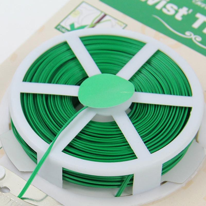 50m Gardening Accessories Tool Package Plastic Flower Wood Tie Line Twist Tie Reel Plant Tie