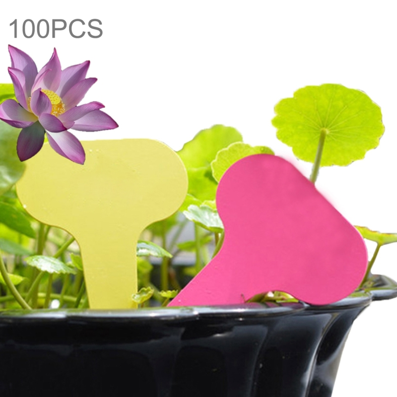100PCS Floral Label Gardening Label Waterproof small card Insert Label Potted Label (Random Color)