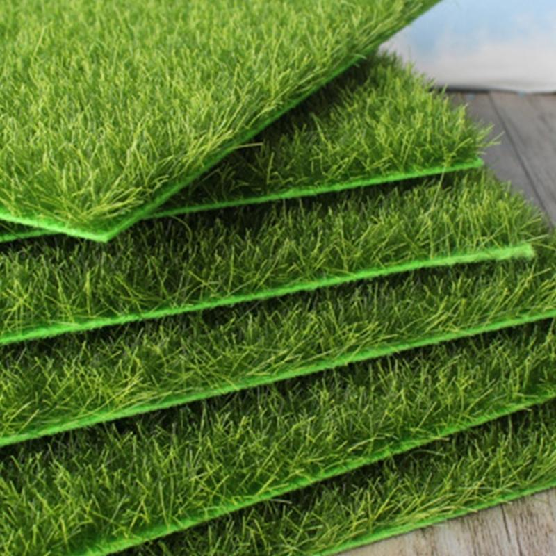 Simulation of Small Lawn Micro-landscape Green Grass Landscape