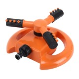 Garden Automatic Rotating Nozzle 360 Degree Rotary Automatic Sprinkler Garden Lawn Watering Nozzle Irrigation Nozzle, Applicable for 3/4 inch Water Pipes (Orange)