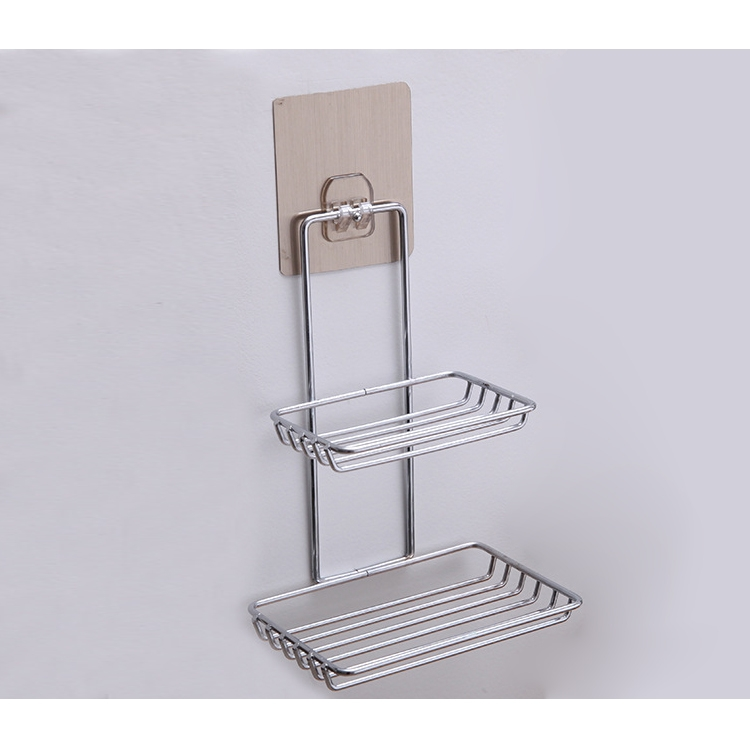 Double Layer Stainless Steel Soap Stand