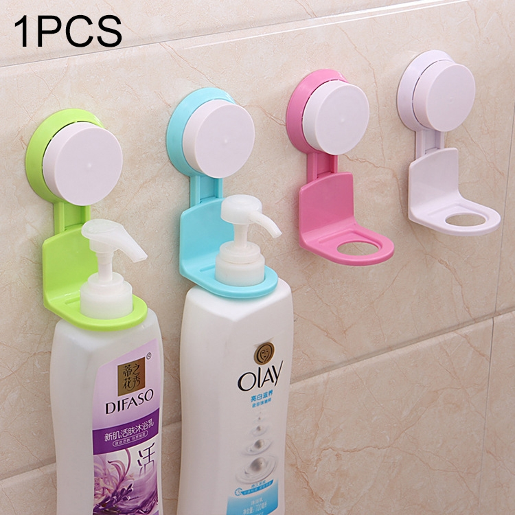 Non-trace Sticking Pylons Bathroom Kitchen Wall Strong Suction Cup Shower Gel Pylons Hanger Vacuum Sucker (Random Color)