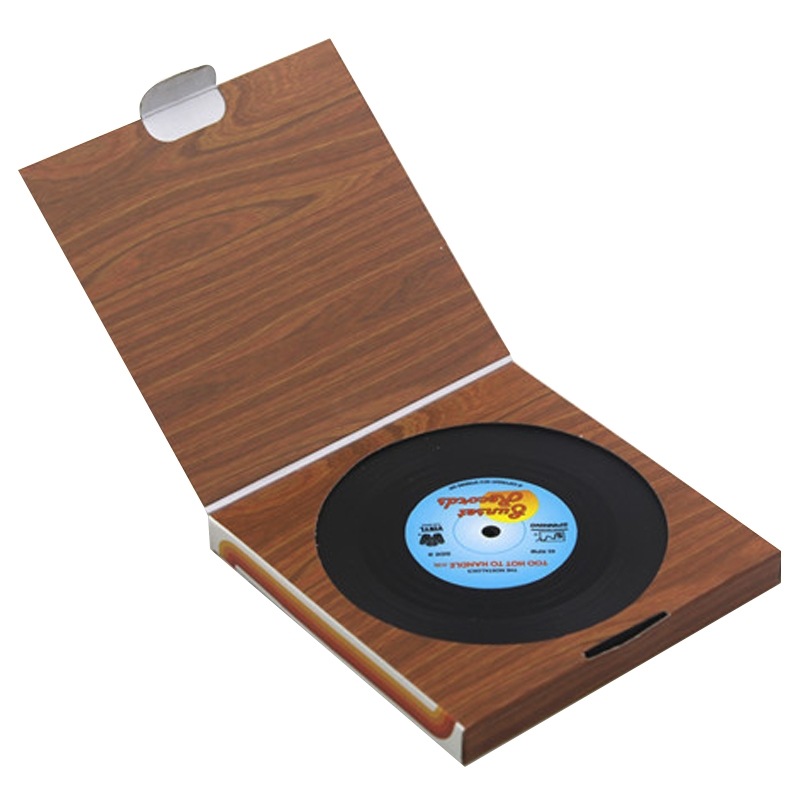 6 PCS / Set Retro Black Vinyl CD Record Drink Coasters Home Table Cup Mat Decor Coffee Drink Placemat Tableware Spinning