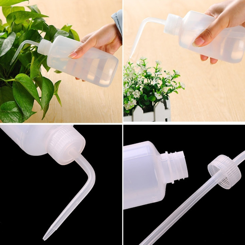 Curved Mouth Drip Bottle Tip Mouth Plant Watering Pot Watering Can Squeeze Sprayer Watering Bottle Watering Pot Flowers Potted Watering Device, 500ml