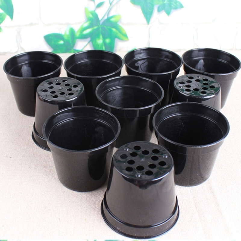 Thicker Plastic Flower Pots Black Small Basin Nursery Special Disk Mini Pot