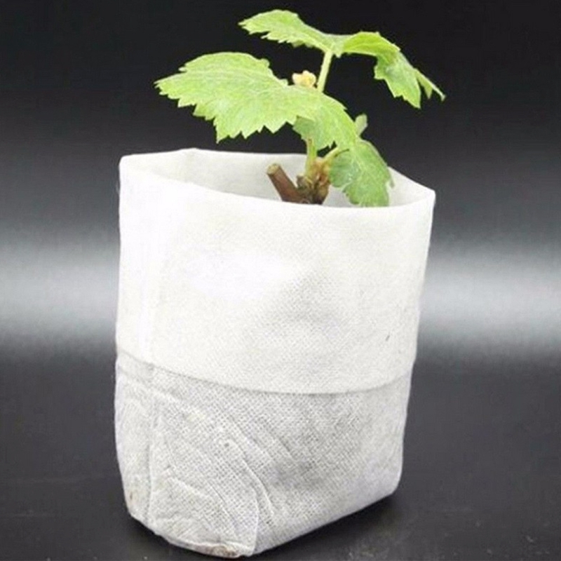100 PCS Nursery Pots Seedling-Raising Bags Environmental Non-woven Nursery Bags