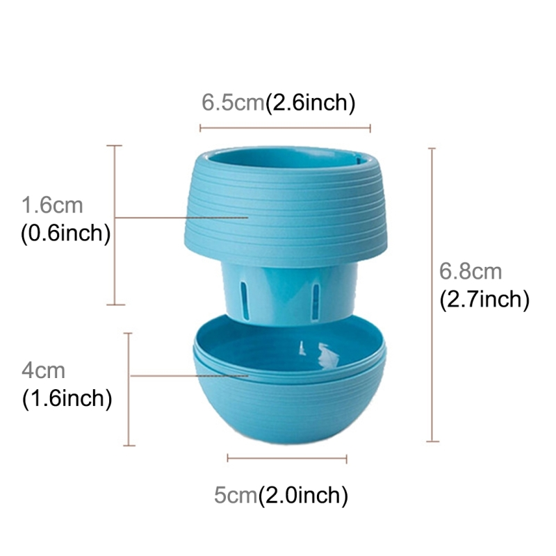 Colourful Mini Round Plastic Plant Flower Pot Garden Home Office Decoration Nursery Pots Succulent Plant Flowerpot with Water Tank (Random Color)