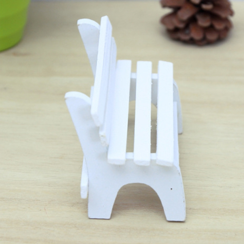 2 PCS Home Decoration Handmade Chair Handmade Wooden Small Chair Creative Home Wooden Ornaments Micro-landscape Ornaments