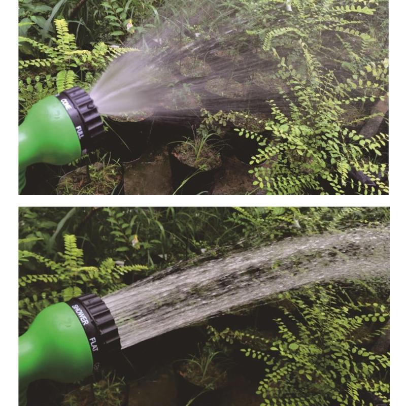 25FT Garden Watering Magic 3 Times Telescopic Pipe Magic Flexible Garden Hose Expandable Watering Hose with Plastic Hoses Telescopic Pipe with Spray Gun (Random Color)