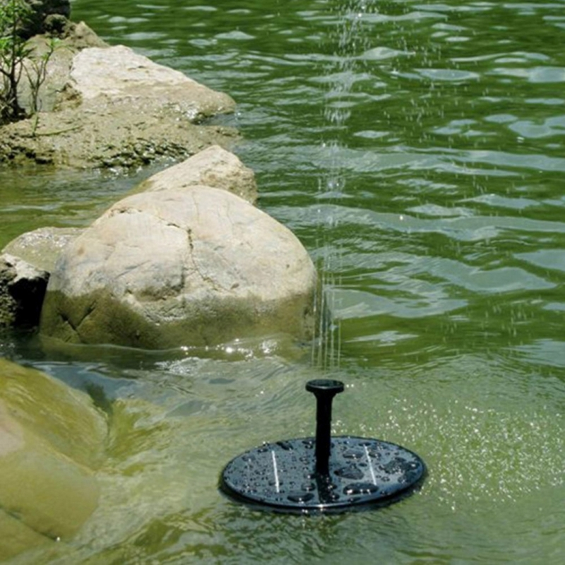 Solar Powered Water Pump Garden Fountain Floating Panel Watering Pond Kit for Waterfalls Water Display Park Pool Decoration Fountain