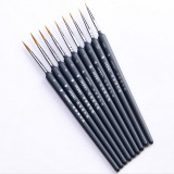 9 PCS / Set Art Supplies Weasel Hair Brush Watercolor Hook Line Brush Depict the Edge Pen Oil Painting Pen