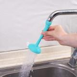 2 PCS Faucet Splash Water-saving Shower Bath Adjustable Valve Filter Water Saving Devices, Suitable for 17mm Diameter Round Faucets (Blue)