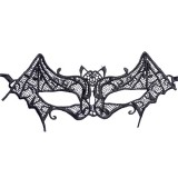 Halloween Masquerade Party Dance Sexy Lady Lace Bat Mask (Black)