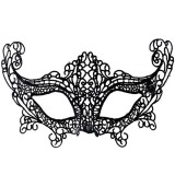 Halloween Masquerade Party Dance Sexy Lady Lace Fox Mask (Black)