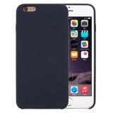 For iPhone 6 Plus & 6s Plus Pure Color Liquid Silicone + PC Protective Back Cover Case (Dark Blue)