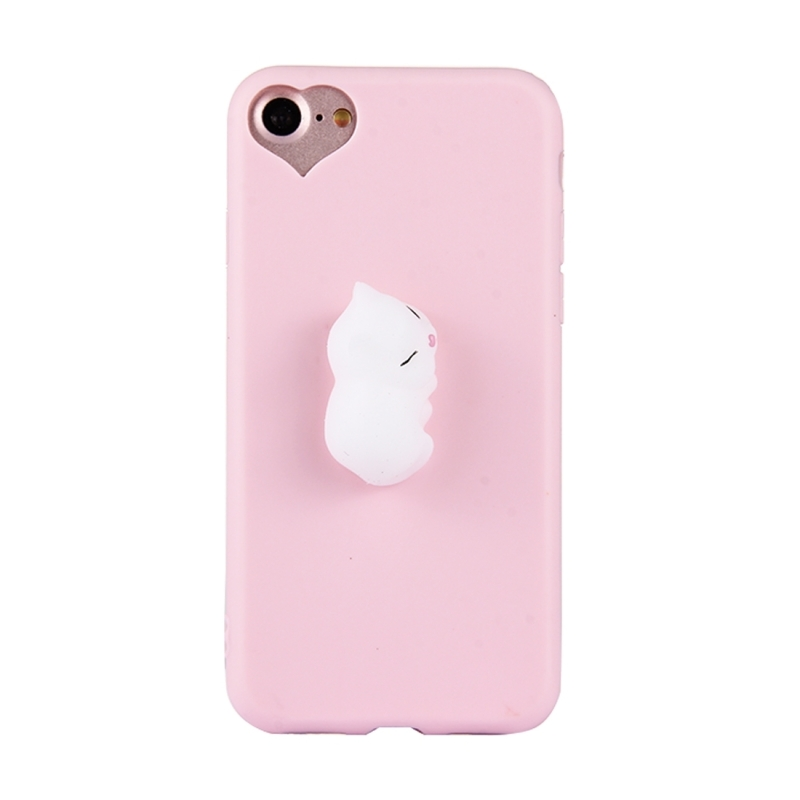 Squishy Iphone 6 Plus Case : For iPhone 6 Plus & 6s Plus 3D White Cat Pattern Squeeze Relief Squishy Dropproof Protective ...