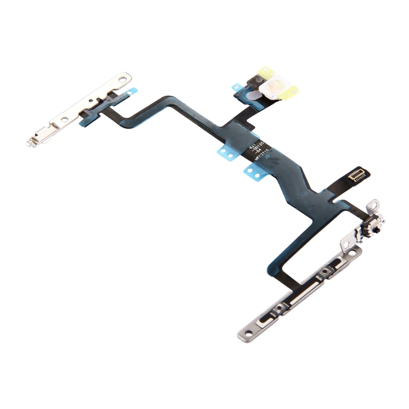 new product 39766 3bfd3 Replacement iPhone 6s Power Button & Volume Button & Flashlight Flex Cable  with Brackets