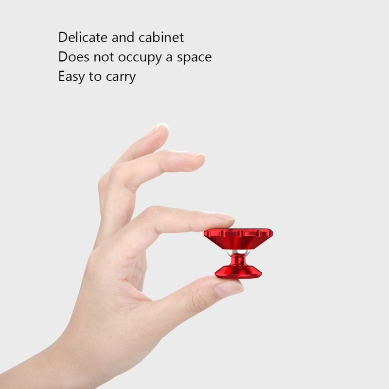 CAFELE Universal Stand Paste Type 360 Degree Rotation Bright Surface Magnetic Mount Phone Holder Stand for iPhone, Samsung, Huawei, Lenovo, Xiaomi, Sony, HTC (Red)