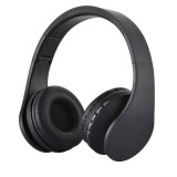 BTH-811 Folding Stereo Wireless Bluetooth Headphone Headset with MP3 Player FM Radio for Xiaomi, iPhone, iPad, iPod, Samsung, HTC, Sony, Huawei and Other Audio Devices (Black)