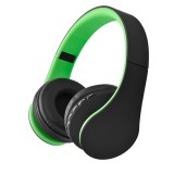 BTH-811 Folding Stereo Wireless Bluetooth Headphone Headset with MP3 Player FM Radio for Xiaomi, iPhone, iPad, iPod, Samsung, HTC, Sony, Huawei and Other Audio Devices (Green)