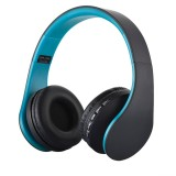 BTH-811 Folding Stereo Wireless Bluetooth Headphone Headset with MP3 Player FM Radio for Xiaomi, iPhone, iPad, iPod, Samsung, HTC, Sony, Huawei and Other Audio Devices (Blue)