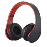 BTH-811 Folding Stereo Wireless Bluetooth Headphone Headset with MP3 Player FM Radio for Xiaomi, iPhone, iPad, iPod, Samsung, HTC, Sony, Huawei and Other Audio Devices (Red)