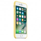 For iPhone 7 Pure Color Liquid Silicone + PC Protective Back Cover Case (Yellow)