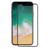 ENKAY Hat-Prince for iPhone 8 0.2mm 9H Surface Hardness 3D Explosion-proof Full Screen Carbon Fiber Soft Edges Tempered Glass Screen Film (Black)