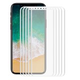 5 PCS ENKAY Hat-Prince for iPhone 8 0.2mm 9H Surface Hardness 3D Explosion-proof Full Screen Carbon Fiber Soft Edges Tempered Glass Screen Film (White)