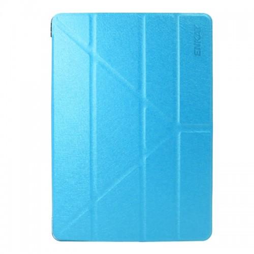 ENKAY for iPad Pro 10.5 inch Silk Texture + Plastic Bottom Case Horizontal Deformation Flip Leather Case with Three-folding Holder & Sleep Function (Blue)