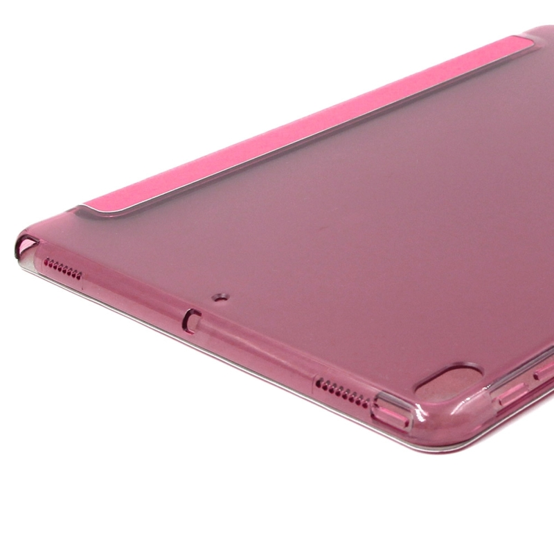 ENKAY for iPad Pro 10.5 inch Silk Texture + Plastic Bottom Case Horizontal Deformation Flip Leather Case with Three-folding Holder & Sleep Function (Magenta)