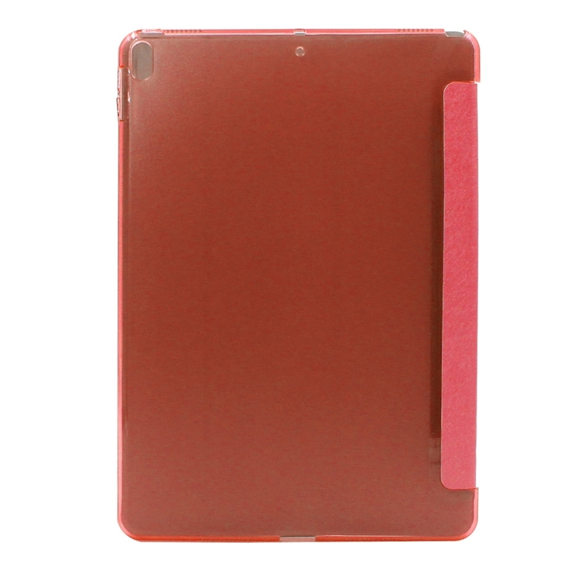 ENKAY for iPad Pro 10.5 inch Silk Texture + Plastic Bottom Case Horizontal Deformation Flip Leather Case with Three-folding Holder & Sleep Function (Red)