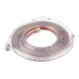 180 LEDs SMD 5050 Casing IP65 Waterproof LED Light Strip with Power Plug, 60 LED / m, Length: 3m, AC 220V (Warm White)