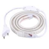 Casing Waterproof IP65 SMD 5730 LED Light Strip with Power Plug, 120 LED / m, Length: 1m, AC 220V (Warm White)