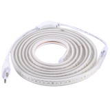 Casing Waterproof IP65 SMD 5730 LED Light Strip with Power Plug, 120 LED / m, Length: 3m, AC 220V (Warm White)