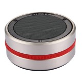 X1 Portable Round Shaped Bluetooth Stereo Speaker with Built-in MIC, Support 360 Degree Spining Volume Control &Hands-free Calls & TF Card & AUX IN, Bluetooth Distance: 10m (Gold)