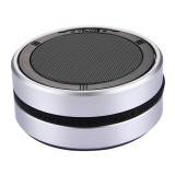 X1 Portable Round Shaped Bluetooth Stereo Speaker with Built-in MIC, Support 360 Degree Spining Volume Control &Hands-free Calls & TF Card & AUX IN, Bluetooth Distance: 10m (Silver)