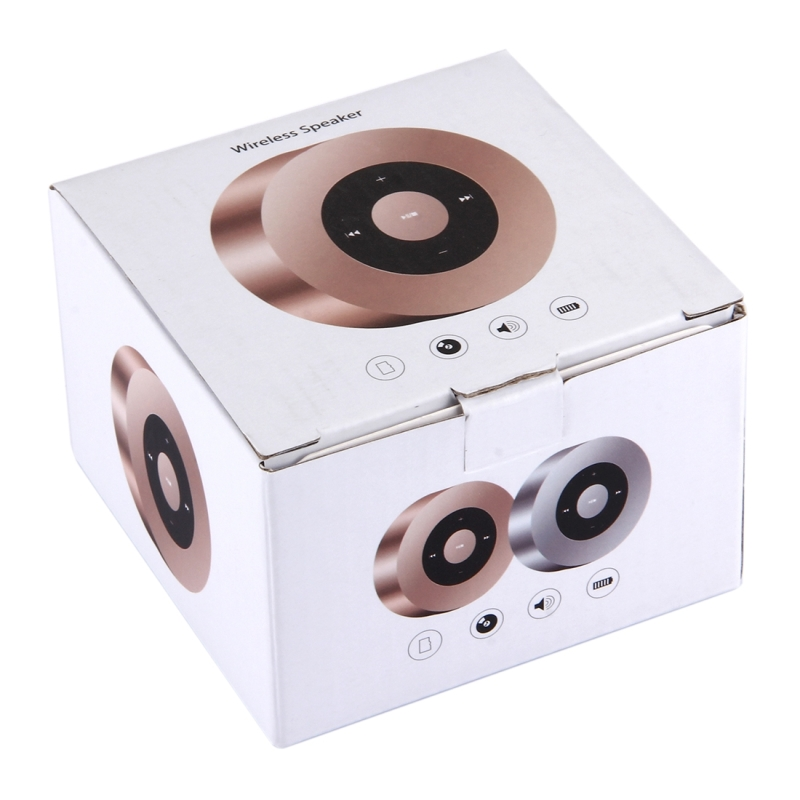 A8 Portable Bluetooth Stereo Speaker with Built-in MIC, Support Hands-free Calls & TF Card & AUX IN, Bluetooth Distance: 10m (Gold)