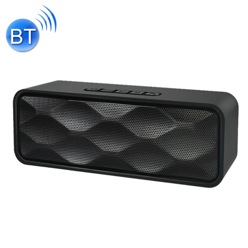 SC211 Multifunctional Card Music Playback Bluetooth Speaker, Support Handfree Call & TF Card & U-disk & AUX Audio & FM Function (Black)