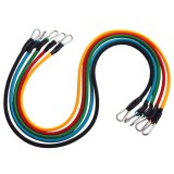 Portable Latex Chest Expander Pull Rope Crossfit Muscle Training Resistance Cable Rope Trainer Set Fitness Resistance Bands, Rope Length: 1m (Random Color)
