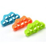 3 PCS Silicone Spring Exerciser Finger Sport Fitness Hand Grippers Muscle Power Training Grip Exerciser (Random Color)