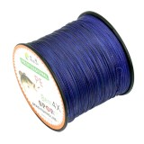 8.0# 0.50mm 80LB 40.8kg Tension 500m Extra Strong 4 Shares Braid PE Fishing Line Kite Line (Dark Blue)