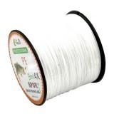6.0# 0.40mm 60LB 27.2kg Tension 500m Extra Strong 4 Shares Braid PE Fishing Line Kite Line (White)