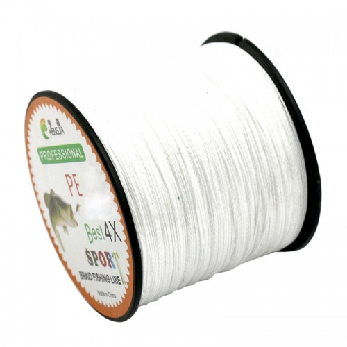 6.0# 0.40mm 60LB 27.2kg Tension 500m Extra Strong 4 Shares Braid PE Fishing Line Kite Line (White)